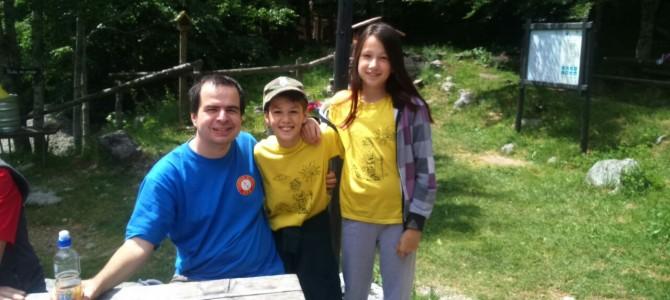 Tea i Edi Frković u Maloj planinarskoj školi na Velikom Alanu